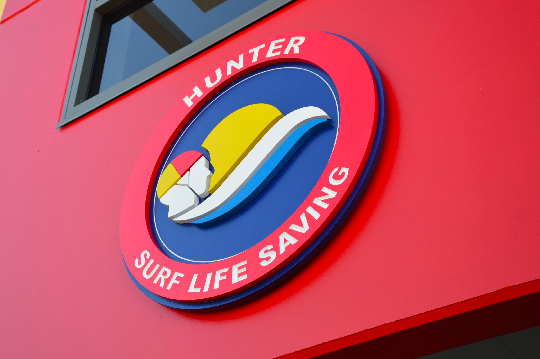 Hunter surf life saving front